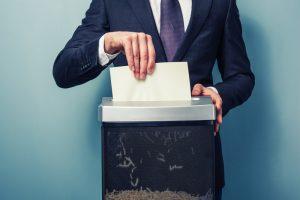 Уничтожение конфиденциальных документов